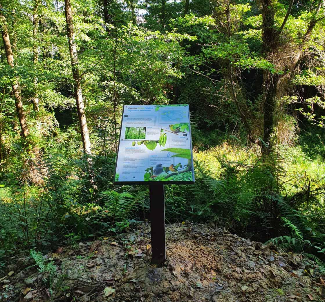 Mapa en la naturaleza realizado con materiales Hanit®.